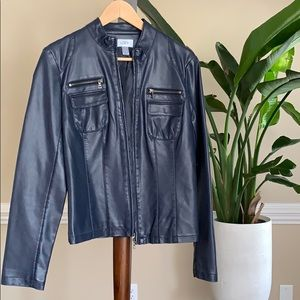 Ann Taylor Faux Leather Jacket